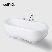 "66"" Cupc Double Oval Bowl Floor Standing Bath"