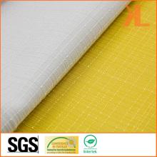 100% Polyester Qualité Jacquard Grid Design Toile de large largeur