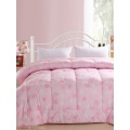 Microfibre Polyester Soft Touch Solid Printed  Quilt Set