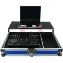 Caso de equipos de aluminio negro incombustible profesional DJ Mixer