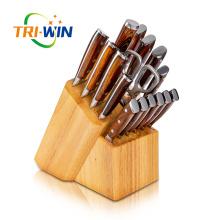 Conjunto de facas de aço inoxidável de talheres 17pcs