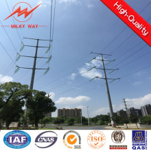 9m 500dan Electric Steel Pole with Bitumen for Africa Market