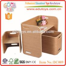 2015 Nuevo diseño y muebles de madera populares de los niños fijados para el jardín de la infancia