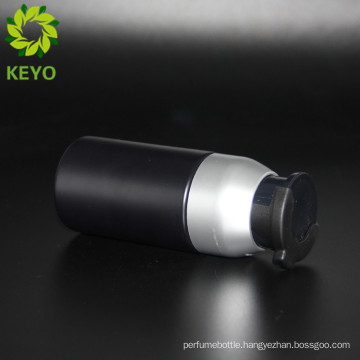 Chilsproof cap black airless bottle 60 ml for man cosmetic liquid cream packing