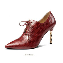 Hot Sale Dress Leather Shoes 2020 New Stylish China shoes leather comfortable High heels fashion modern mature