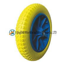 Roues de brouette de roue de mousse de polyuréthane solide de 13 * 3 / 3.00-8