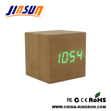 Smart Wood Green Led Clock