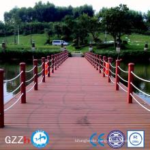 Environmentally friendly pontoon float bridge