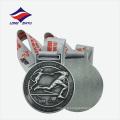 Médaille de moulage sous pression nickelée en usine