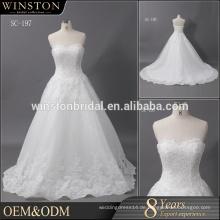Guangzhou Lieferant Tulle Kristall Hochzeitskleid Kleid Brautkleider