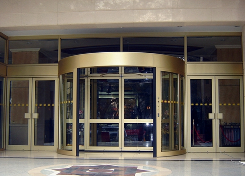 Ningbo GDoor Large Commercial Entrances with Two Wing Automatic Revolving Doors