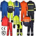 Revestimentos de segurança retardadores de chama e antiestáticos modacrílicos de alta visibilidade