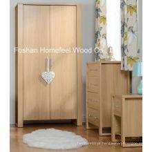 Conjunto de móveis de quarto de decoração de madeira de moda de 3 peças (BD24)