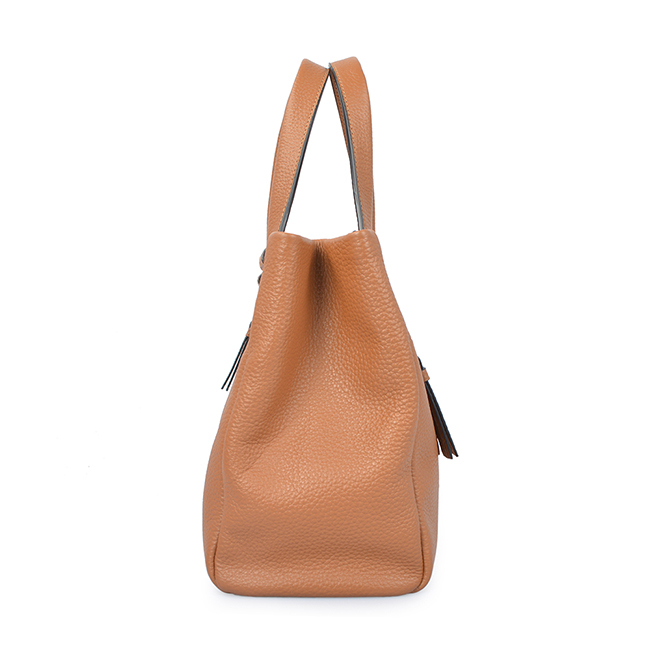 grain leather large capacity lady business women tote bag