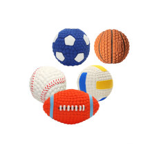 Wholesale Customized Emulsion Squeaky Small Pet Dog Tennis Ball
