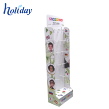 Custom Design Cardboard Shop Display Stand Make Up Cardboard Display Stand