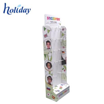 Custom Design Cardboard Shop Display Stand Make Up Cardboard Display Stand