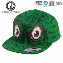 Moda colorida dragón verde pantalla impresión baloncesto Snapback Cap