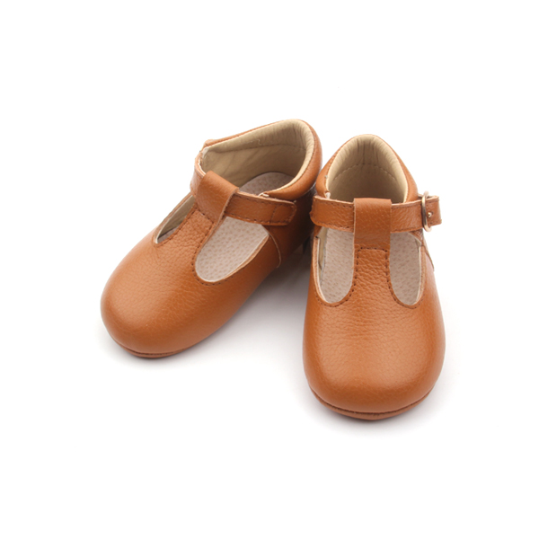 Fancy Leather Dress Shoes Wholesale T-Bar Girl Shoe