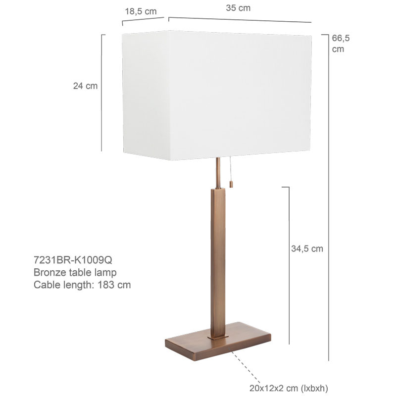 Reading Square Table Lamp
