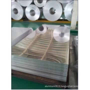 Usine de prix usine Fini 1100 feuille en aluminium avec revêtement en PVC