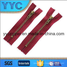 # 5 Colse End Reißverschluss Antik Messing Metall Zipper