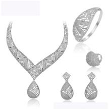 set-157 XUPING vente chaude mode nouveau design couleur Rhodium bijoux collier boucle d'oreille et anneau pour les femmes mariage bijoux ensemble