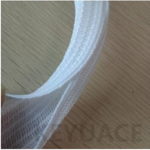 White Self Closing Braided Cable Wrap Sleeve