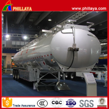 3 Axles Lifting Air Suspension Aluminum Fuel Tank Semi Trailer