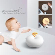 2017 Nouveau Bébé Lampe Sleep Aid USB Rechargeable Multicolore Relaxant Cetacean Mignon Infantile