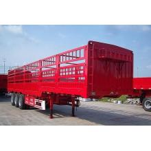 3-axle trailer lattice cargo truck loading animals