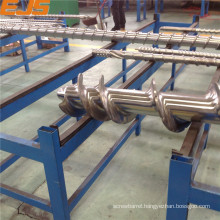 anti-corrosive highly nitrided or bimetallic rubber extruding screws