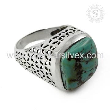 Fantabulous turquesa joyas anillo de la joyería de plata 925 joyas de plata esterlina en línea exportador