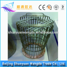 Tungsten birdcage heater for vacuum or gas protected high temperature furnace