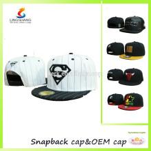 El snapback del panel de encargo 6 se divierte el sombrero, los sombreros unisex y los casquillos, bailan el casquillo del hip-hop