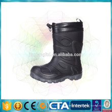 with fleece lining children warm boots waterproof rain boots