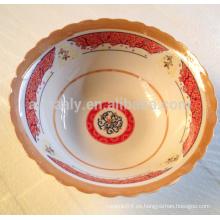 Tazón de ensalada de porcelana de cerámica de calidad superior 9