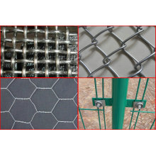 Treillis métallique ondulé en fer galvanisé et treillis métallique soudé et treillis métallique serti en acier