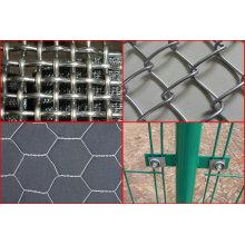Ferro galvanizado frisado malha de arame e malha de arame soldado e aço frisado