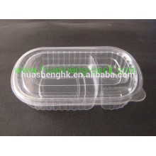 Take Away Customized Colorful Disposable PP/PET/PS/PVC Plastic Food Containers/Lunch Box