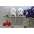 cheap soft satin fabric personalized close toe chinese custom embroidered hotel slipper