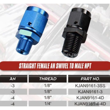 AN Male to Female NPT Swivel Straight Adaptors