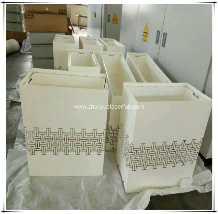 Stainless Steel Flower Pot with Powder Coating