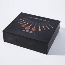 10PCS Профессиональный Овальный Private Label Набор кистей для макияжа с черным ящиком