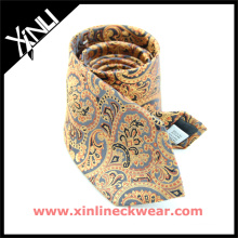Classic Italian Jacquard Mens Private Label Silk Paisley Ties