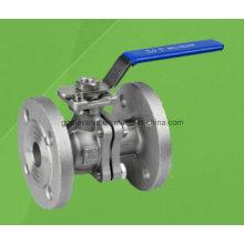 Válvula de bola flotante con bridas de acero inoxidable 2PC (Q41F)
