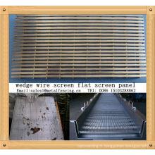 Panneau d'écran plat de séparation de liquide / solide de cale de fil