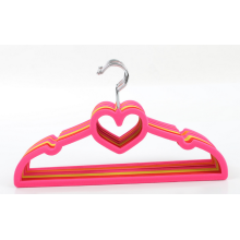Heart Shape lovely Baby Clothes Velvet Hanger Mini Kids Flocking Hanger