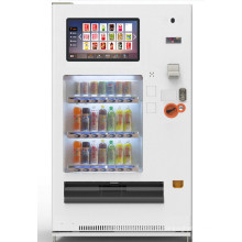 Tela de toque de 23,6 polegadas frio / quente bebida ou bebida máquina de venda automática de auto-atendimento