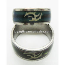 Trendy style stainless steel mood ring